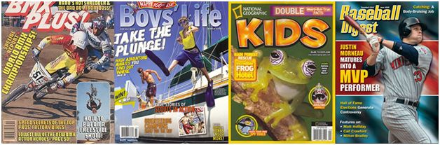 Kids' magazines covers 1